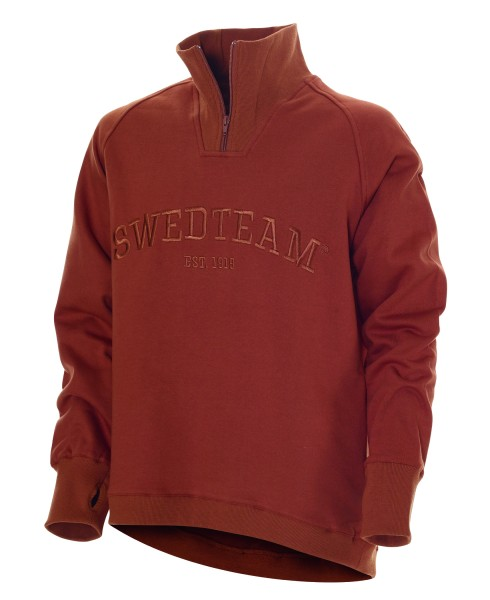 Sweater Lakeside Zip Orange