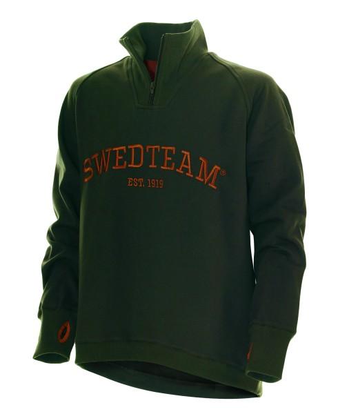 Sweater Lakeside Zip Grün