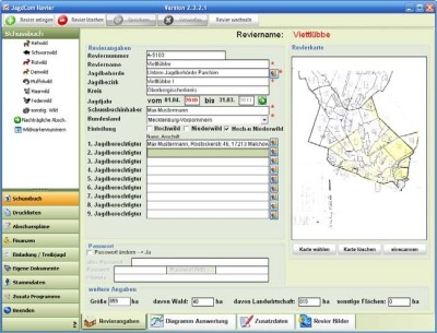 Software Revierverwaltung am PC