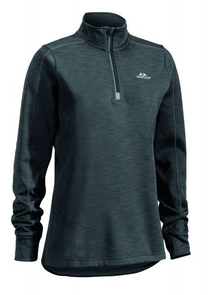 Damenfleecesweater Ultra light 1/2 Zip grau